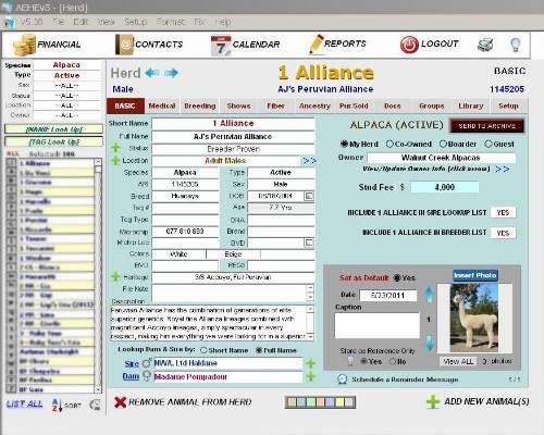 Alpaca management software